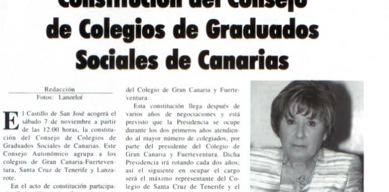 Constitución del consejo de Colegios de Graduados Sociales de Canarias